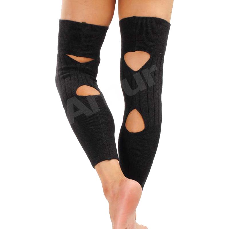 Outdoor Knee Pads Protector Cashmere Wool Warm Elastic hollow kneecap(China (Mainland))