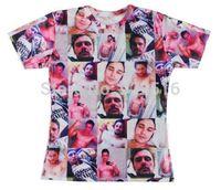 Hot sale New fashion 2014 Mens/Womens Short Sleeve James Franco Selfies 3D All Over Print Women Men Tops T-shirt S M L XL XXL