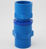 aquarium tube connector, blue color, 50mm diameter, for tube DIY