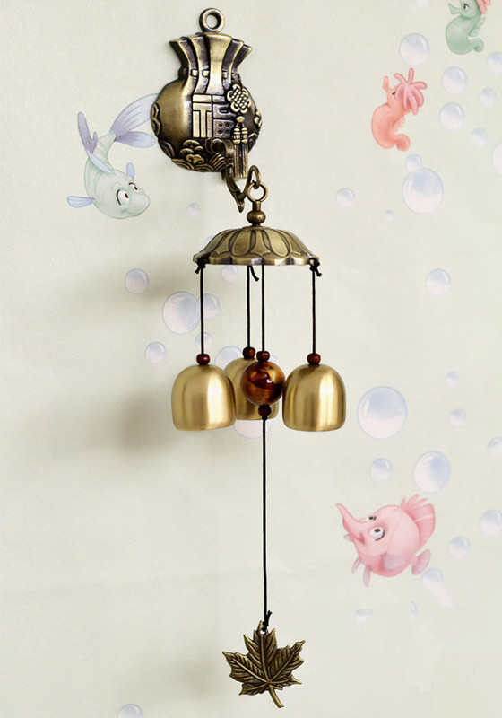 Hot Metal Door Wind Chimes Copper Bells Home Decoration Brass Bells Arts And Crafts Creative Room Decoration(China (Mainland))