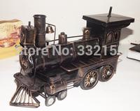 Vintage steam metal   locomotive model new home bar parlor nostalgic ornaments creative crafts Cars