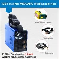 Promotion DC Inverter MMA welding machine ARC200 (ZX7-200) IGBT welder with complete accessories & helmet