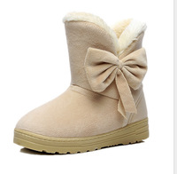 2014 new snow Boots Winter Fashion Women Boots Hand sewing winter  Boots Platforms  Boots Thicken Beige,Black,