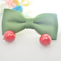 Authentic Korean hair lovely bow side clamp cherry spring side top clamp horsetail hairpin fashion temperament