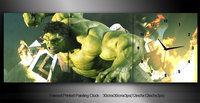 Framed 3 panels Hulk movie print painting clock Waves decorative wall clock canvas clock art prints (WITH FRAME) an-087