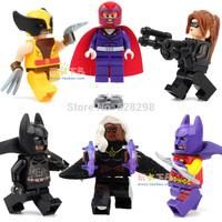 2014 New High Quality 2014 X-men Batman Catwoman Storm Magneto Wolverine mini figures 6pcs/lot building blocks boy toy free ship