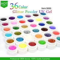 gel nails art gdcoco 36 colors  nail glitter gel  #3689W