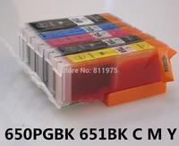 650 xl 651 xl pgi650 cli651 compatible Ink cartridge for canon IP7260 MG5460 MX726 MX926 MG6460 MG5560 ix6860 printer full ink