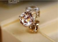 Free Shipping Fashion 5mm Lady 100% 925 Sterling Silver Fine Jewelry Wedding Ear Stud Earrings, HOT SALE