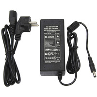 For 5050/3528 smd led strip or LCD Monitor connector US/EU/AU/UK plug DC12V 5A power adapter power supply