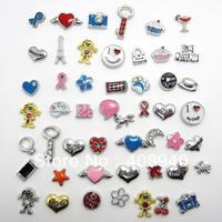 "10PCS  ""Mix Style"" Floating charms ,Zinc Alloy Fit Floating charm lockets & Floating locket bracelet , FL0022"