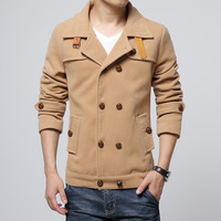 Free Shipping Mens Winter Coat Casual Woolen Trench Outerwear Plus Size M-5XL Manteau Homme Top Quality