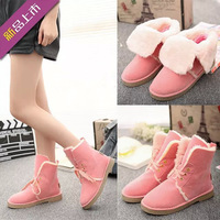 2014 Korean version of the flat non-slip snow boots women boots in increased hair short boots warm cotton padded shoes 121001