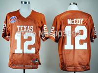Ncaa Texas Longhorns #12 mccoy orange college football jerseys mix order free shipping