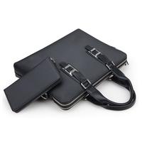 Itemship Double Zipper Laptop Bags Business Men Messenger  Khaki Color Laptop Bags  Fit For13.3-Inch Laptop