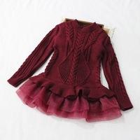 kids winter sweater dress kids sweater dresses winter fleece clothes girl dress long sleeve christmas princess dress