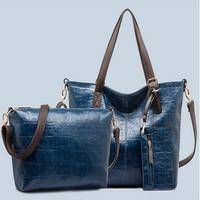 New arrival  vintage fashion brand women handbags tote women messenger bags cross body composite bag free shipping