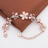 Free shipping!!! Jewelry Bracelet,for Jewelry, Zinc Alloy, with Cats Eye, with 2lnch extender chain, Flower