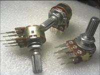 10 pcs/lot Potentiometer Pots Dual C500K  20mm Plum handle  Six Feet 10k.20k.50k  100k.500k Long Foot Electronic Components