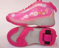 Roller Shoes Flashing Light Wheel skates kids cartoon design Shoes boys girls sneakers Boys Girls Shoes With Wheels Roller Shoe