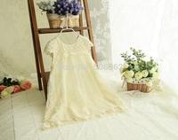 Free shipping Crochet lace sleeveless Children's summer lace ball gowns Dress Baby girls lace summer wedding dress 5pcs/lots