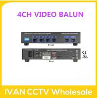 4CH Passive Video/Power/Data Power Supply Receiver Hub  Video Balun