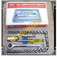 40 woolly automobile motorcycle tool box set of socket wrench sleeve group tool sleeve suit hardware auto sleeve car repair tool