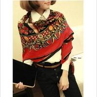 Ancient folk style chili totem shawl scarf new soft handle