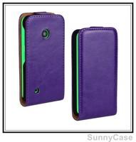 Crazy Horse PU Leather Flip Cover Case for Nokia Lumia 530