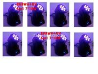 8pcs/lot 7pcs*18W 6IN1 Mini Led Moving Head Wash Light RGBWA+UV DMX 512 Hi-Quality Led Moving Head Light DMX Led Stage Light