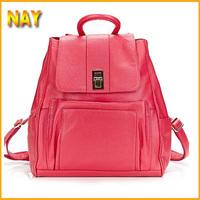 Best Gift for Girls! Fashion Hot 2015 New Designer Brand 5 Colors Women Genuine Leather Backpack Travel Backpacks Rucksack
