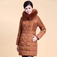 2014 Winter Thicken Warm Woman Down jacket Coat Parkas Outerweat Luxury Hooded Fox Fur collar Long Cold Plus Size 4XXXXL