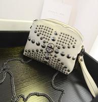 2015 women's handbag personalized fashion trend of the paragraph rivet decoration mini shoulder bag chain small cross-body bags