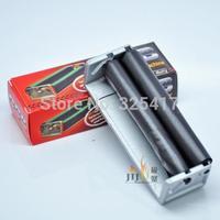 Free Shipping 10pcs/lot zinc alloy Tobacco Roller Cigar CIGARETTE ROLLING MACHINE Regular Portable Silver Promotion