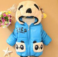2014 New Winter Baby Clothes Panda Rabbit Baby Boys Baby Girls Outerwear Infant Cartoon Down Coat C01