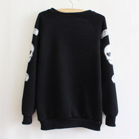 Fashion Women T-shirts Letter Patter Woman Tees Warm Ladies Undershirts Top Wear For Autumn Or Winter