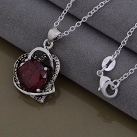 Christmas Gift 925 Silver Crystal Necklaces & Pendants,Fashion 925 Sterling Silver Necklace,Free Shipping,GYAN1000