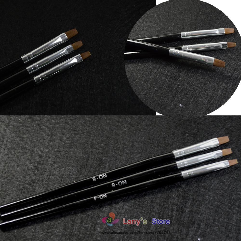 Кисточка для ногтей Larry's Store 3pcs/set 3size ND04 кисточка для ногтей yifu store 1 2ways diy nao10