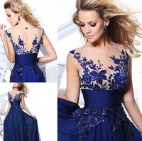 Hot 2014 Women's Clothing Formal Long Ball Gown Party Dresses Prom Evening Wedding Dress