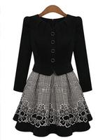 European Hitz hedging Slim long-sleeved round neck cardigan elegant women dress 3579