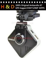 Samoon A730 100% Original Ambarella A7 Car Camera DVR Recorder 1296P+GPS Logger+G-sensor+Night Vision+170 Degree View angle