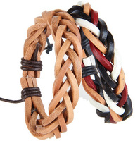 Do promotion Wholesale high quality low price bracelet for man leather genuine leather bracelet fashion