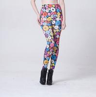 New Autumn Ladies' Elastic Candy Color Pencil Pant Women Colorful Circle Capris Safety Pants Diamond Leggings
