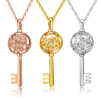 High Quality Gold Plated Balls Keys Pendants Jewelry Set with Rhinestones Health Care Jewelry for Charming Lady