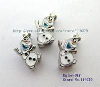 50pc 8mm  Olaf  DIY accessory fit wristband pet collar key chain