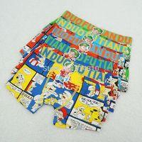 Free shipping 6pcs/lot baby boy cotton underwear kids cartoon panties doramon boys boxer briefs children fashion underpants