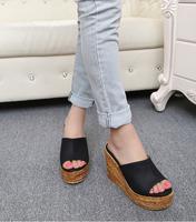 women fashion summer wedges sandals high heels beach platform Straw shoes slippers female 30 31 32 33 41 42 43 sy-1013