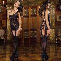 Lady Mysterious Sexy body Lingerie bandage Underwear Sleepwear Lace Dresses+G-string sex products body stocking bodysuit women