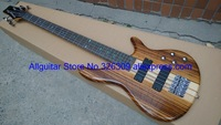 5 strings Bass Natural One piece Body BASS Active pickups China Electric Bass guitar