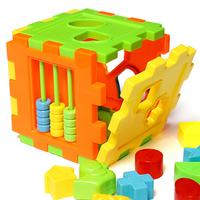 2 sets/Lot  _ Baby Children Matching Sorting Building Blocks Box Intelligence Toy